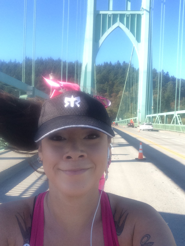 2014 Portland Marathon St Johns Bridge Marilyn Tycer